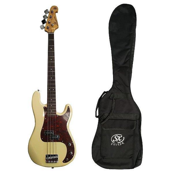 Baixo 4 cordas Precision Bass SPB62+ C/ Bag BB400 VWH - SX
