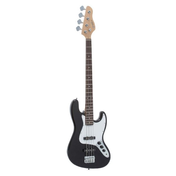 Baixo Jazz Bass Preto com Escudo Branco (BK/WH) GB-100 - Giannini