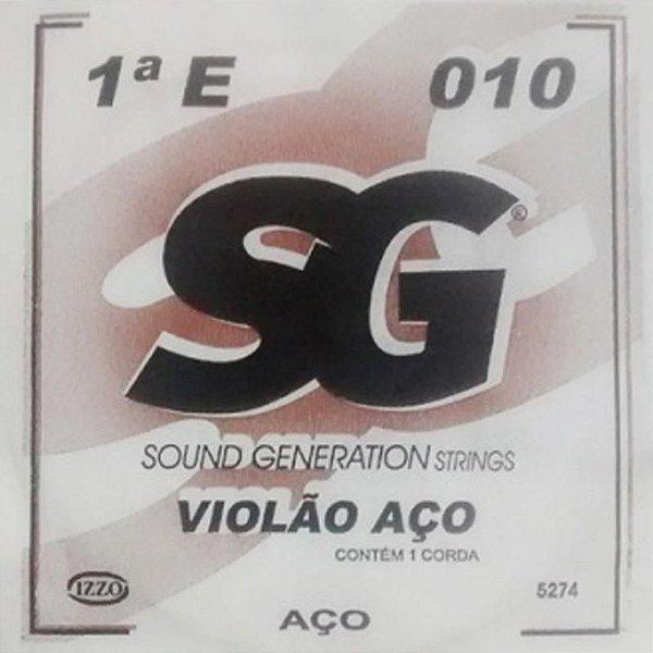 Corda Avulsa Violão Aço1ª E (Mi) - SG
