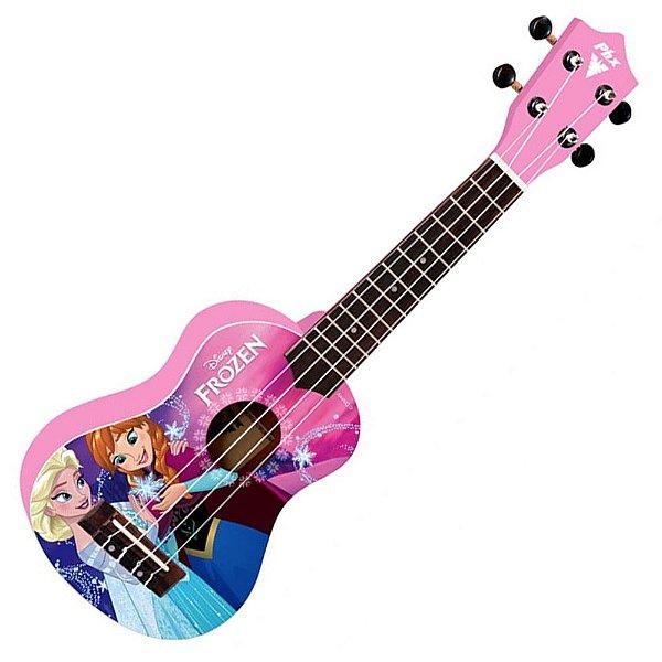 """Ukulele Soprano 21"""" Frozen Pink UKP-F2 Oficial - PHX"""