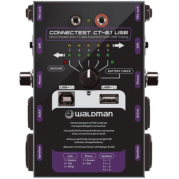 Testador de Cabos / Conexão CT-8.1USB - Waldman