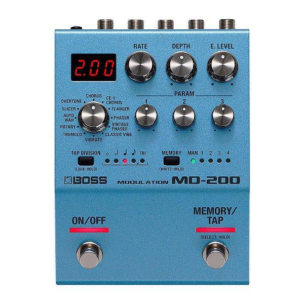 Pedal Efeito 12 Modulações (Chorus, phaser, flanger, rotary, etc) MD-200 - Boss