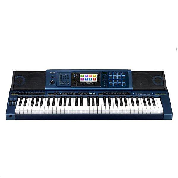 Teclado Arranjador MZ-X500 61 Teclas Azul - Casio