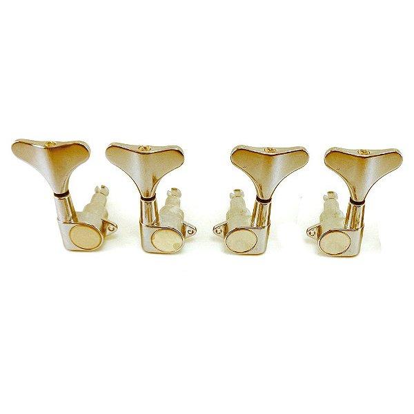 Tarraxa para Baixo 4 Cordas 2+2 MHB20D Deluxe Gold - Ronsani
