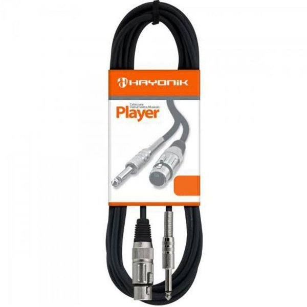 Cabo para Microfone XLR(F) / P10 10MT Player - Hayonik