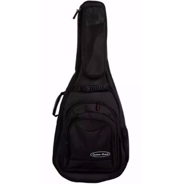 Capa Bag Luxo para Violão Folk Preta VF 2 BK - Custom Sound
