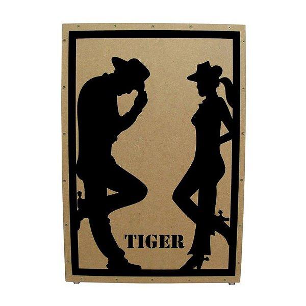 Cajon Acústico Estampa Cowboy AC Cowboy - Tiger