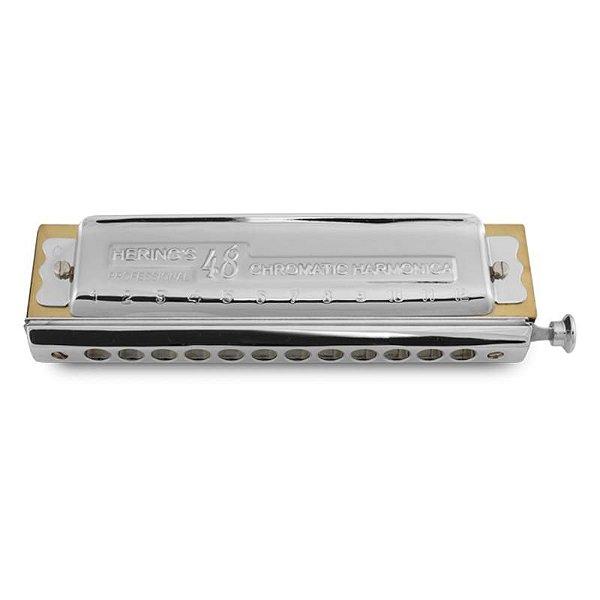 Harmonica Cromática Deluxe em Dó HC 48 Vozes 5248C - Hering