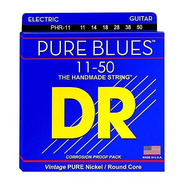 Encordoamento Guitarra 011 PHR-11 Pure Blues Pure Nickel Electric - DR