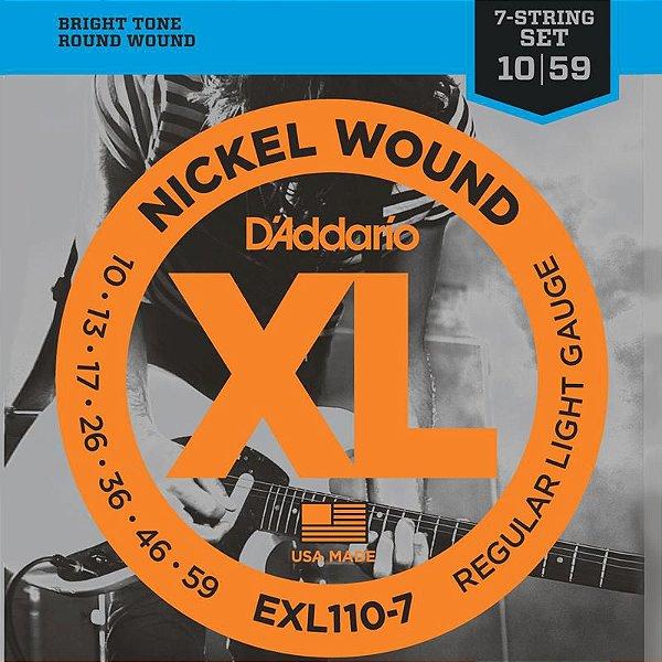 Encordoamento Guitarra 7 Cordas EXL110-7 010 - D'addario