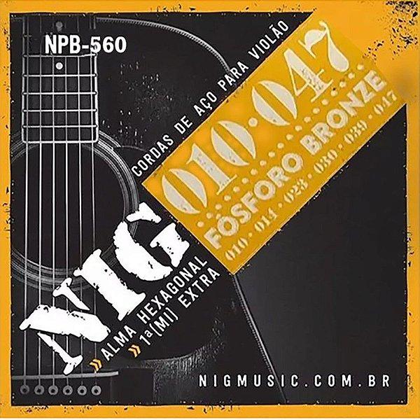 Encordoamento Violão Aço Fosforo Bronze 010 NPB560 - NIG