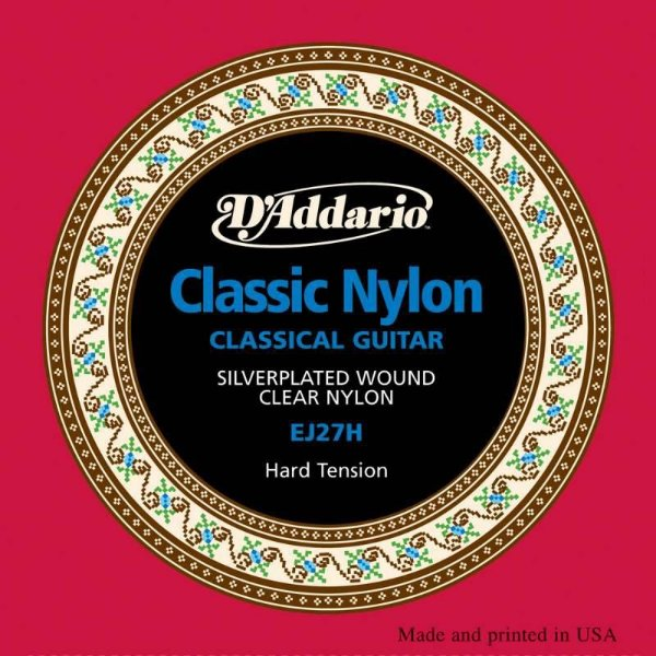 Encordoamento Violão Nylon EJ27H Tensão Alta - D'addario