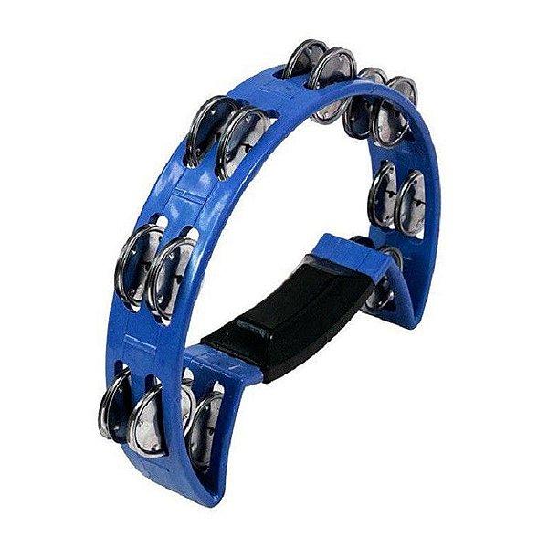 Pandeirola Meia Lua ABS Platinela Inox Com pegador Azul 40070AZ - Luen