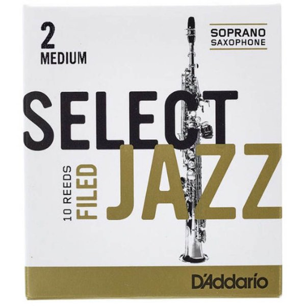 Palheta para Sax Soprano 2 Select Jazz RSF10SSX2M Caixa c/ 10 - D'addario