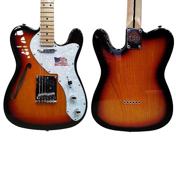 Guitarra Telecaster SX Hollow Body TL Vintage em ASH STLH3TS