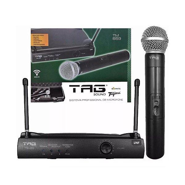 MICROFONE SEM FIO UHF TM559 - TAG SOUND