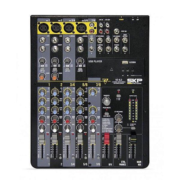 Mixer Mesa de Som Com MP3 VZ 8.2 - SKP 2240