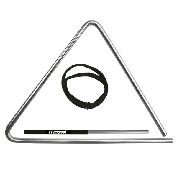 Triangulo Médio Cromado 25cm TR 25 - Liverpool