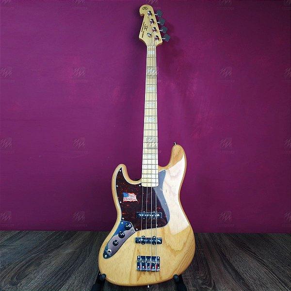 Baixo Jazz Bass 4 Cordas SJB75LH Canhoto Tortoise NA - SX