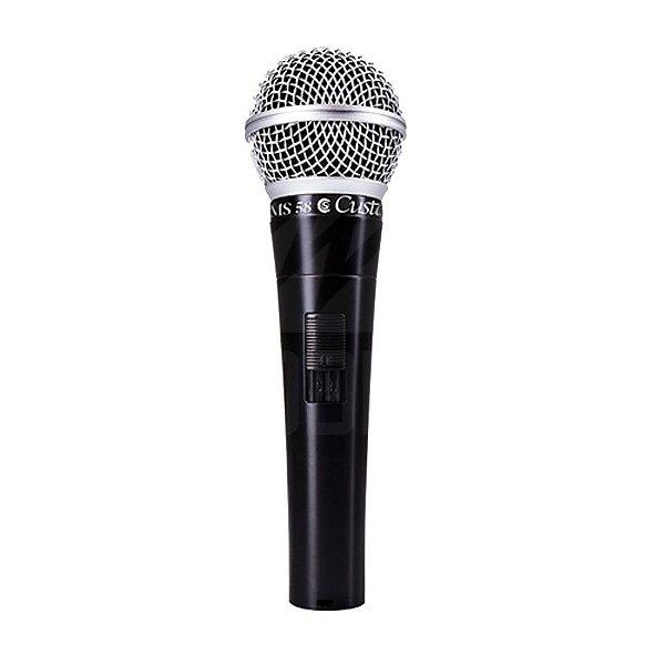 Microfone CSMS 58 BK C/ Cabo - Custom Sound