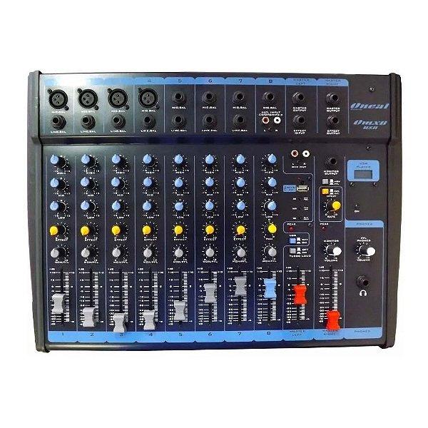 Mixer Mesa de Som Line 8 Canal P10 OMX-8-I - Oneal