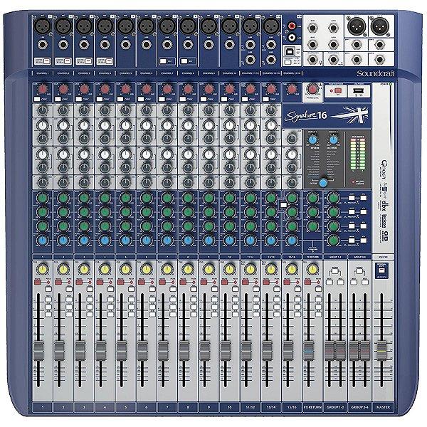 Mixer Mesa de Som Signature 16 - Soundcraft