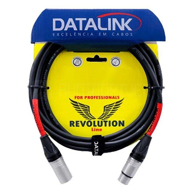 Cabo para Microfone XLR/XLR Revolution Premium 7Mt - Datalink