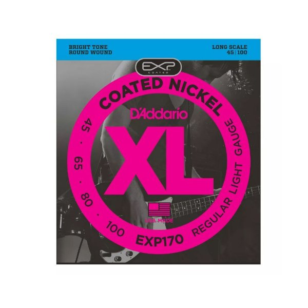 Encordoamento para Baixo 4 Cordas 0.45 EXP170 - D'addario