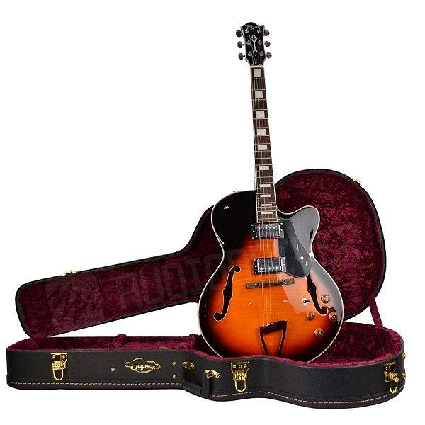 Guitarra Semi-Acústica JAZZ-1900 VSB Vintage Sunburst C/ Case - Tagima