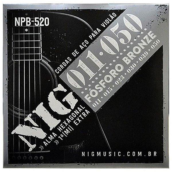 Encordoamento Violão Aço Fosforo Bronze 011 NPB520 - NIG