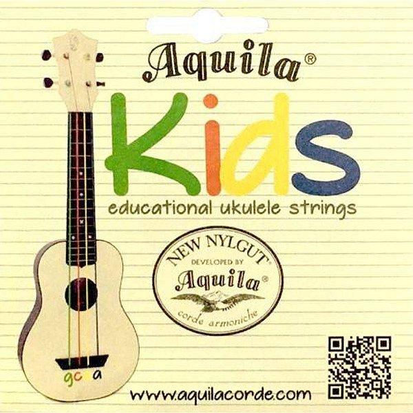 Encordoamento para Ukulele Soprano New Nylgut Kids Colorido AQ 138U KD - Aquila
