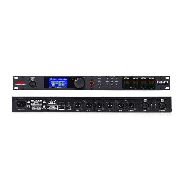 Processador de Audio Crossover Digital 6 Vias DriveRack PA2 220V - DBX