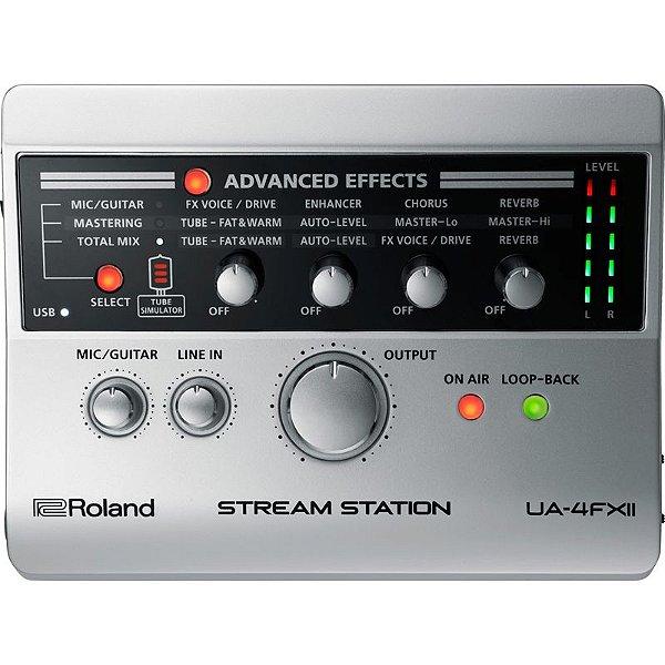 Interface de Audio/Midi USB Para Instrumentos Microfone e Gamer UA-4FX2 - Roland