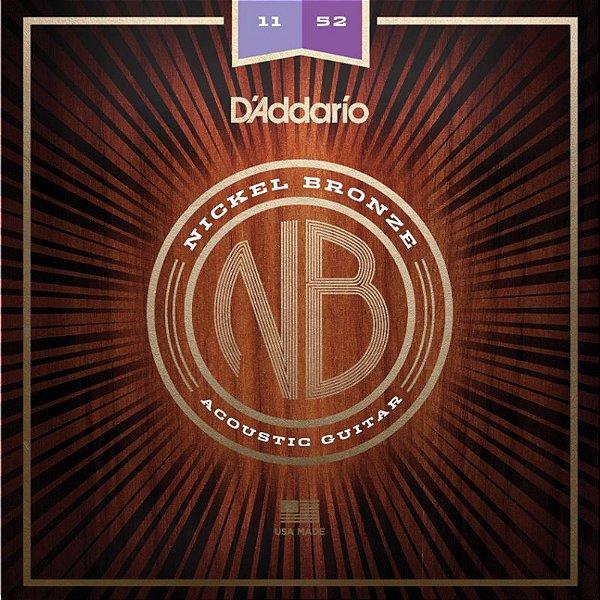 Encordoamento Violão Aço 011 NB1152 - D'Addario