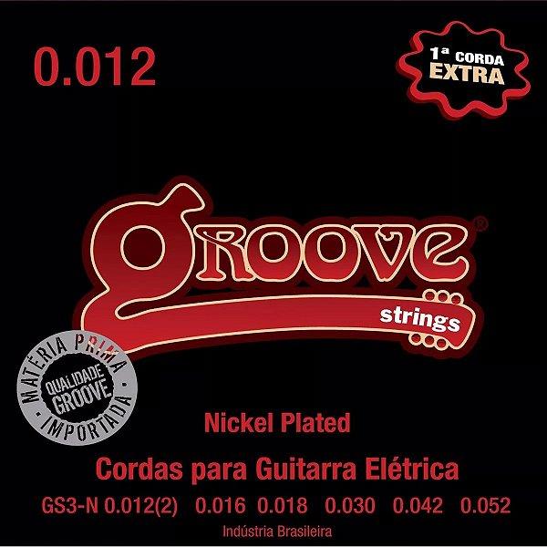 Encordoamento Guitarra 0.12 GS3N Nickel Plated NPS 8% 1ª Mi Extra - Groove