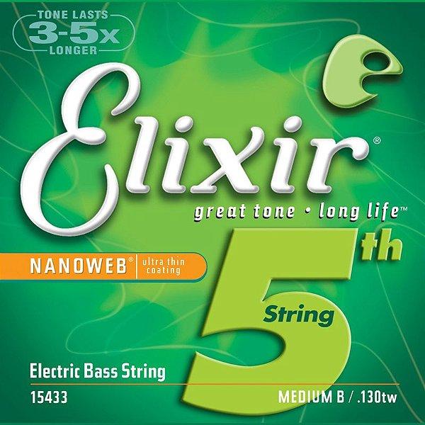 Corda Avulsa 5ª SI para Baixo 130tw Médium X LS - Elixir