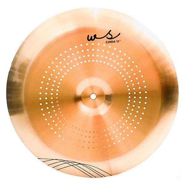 """Prato China 16"""" WS Whisper WS16CH com Micro Furos em Bronze B10 - Orion"""