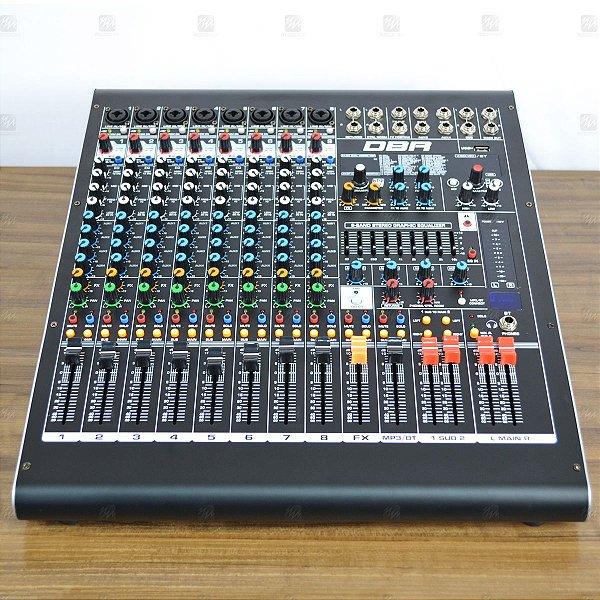 Mixer Mesa de Som 8 Canais DM8 USB - DBR