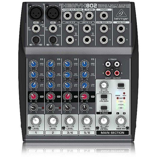 Mixer Mesa de Som Xenyx 802 - Behringer