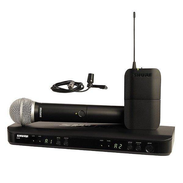 Microfone Sem Fio Duplo Bastão + Lapela BLX1288BRCVL-J10 - Shure