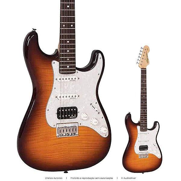 Guitarra Strato Vintage V6HH FTB Braço Maple