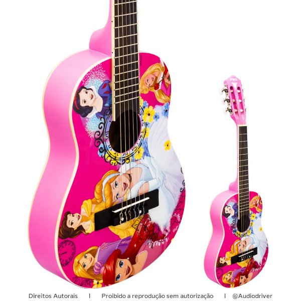 Violão PHX Infantil Disney VIP-5 Princesas Celebration