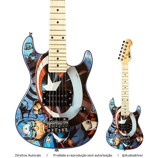 Guitarra Infantil PHX Capitão América Marvel GMC-K2