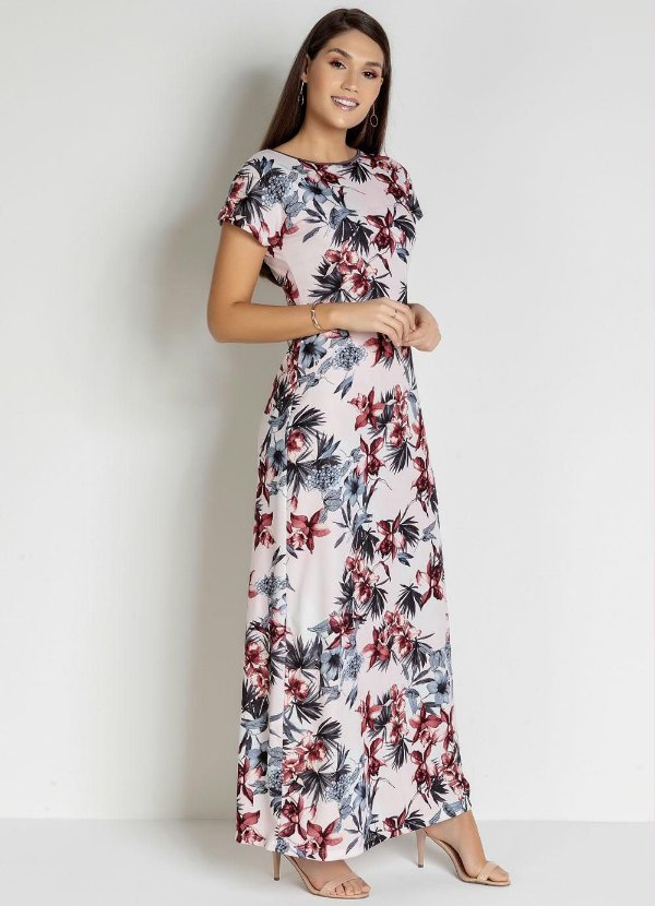 Vestido Longo Florido Sampaio Correia