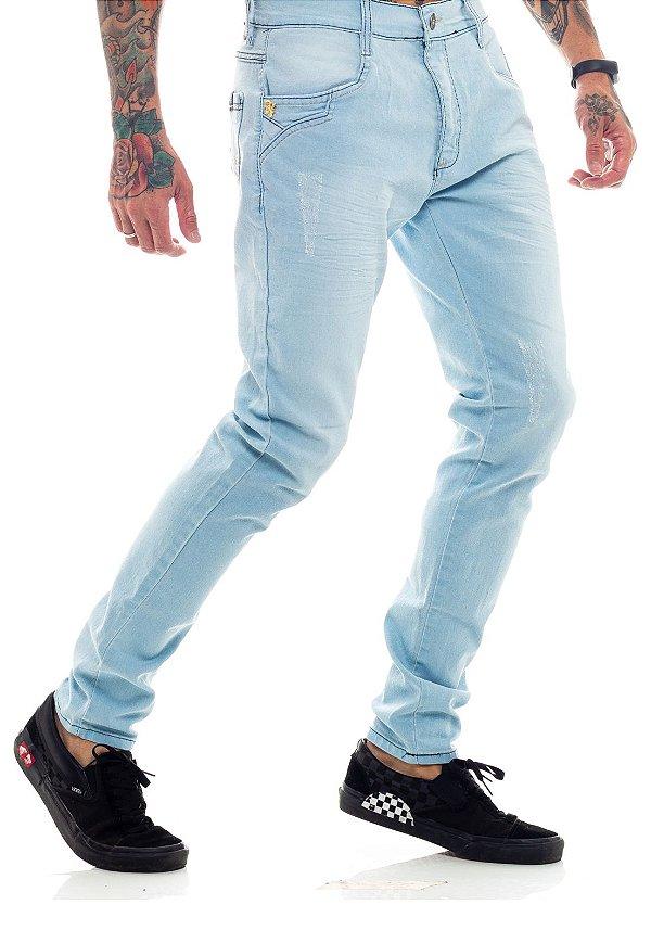 Calça Jeans Básica Azul Claro