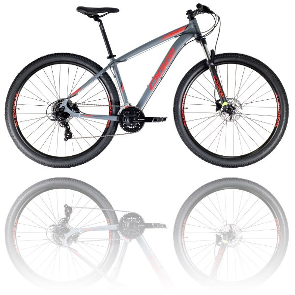 BICICLETA ARO 29 OGGI HACKER HDS 2021 - TAMANHO 19 | GRAFITE, VERMELHO E PRETO