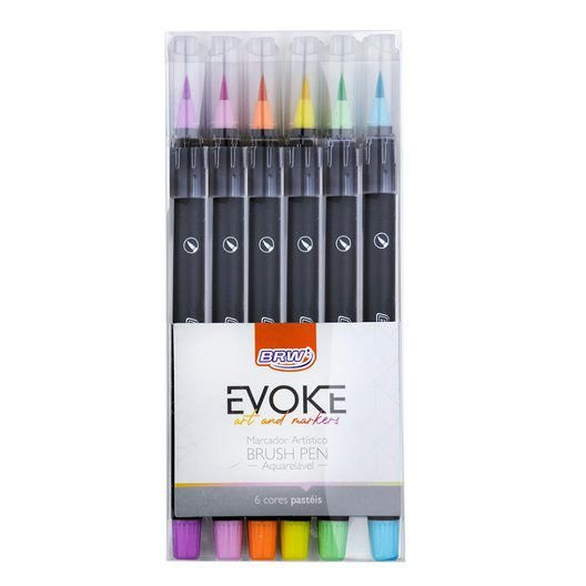 Marcador Artístico Brush Pen Aquarelável - BRW