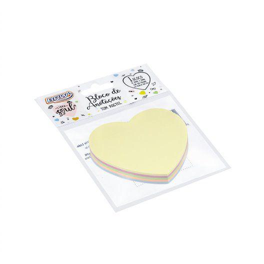 Bloco Smart Notes Coração Pastel - BRW