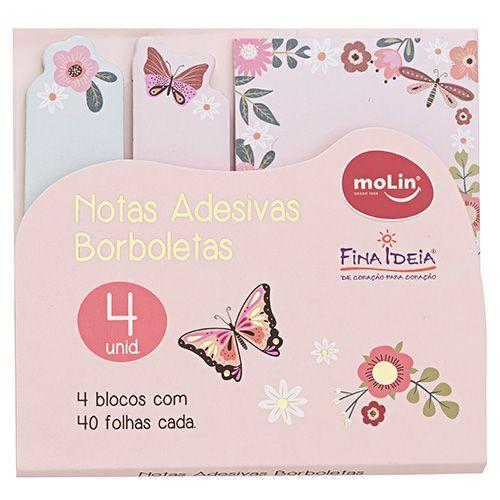 Notas Adesivas Borboletas - Molin
