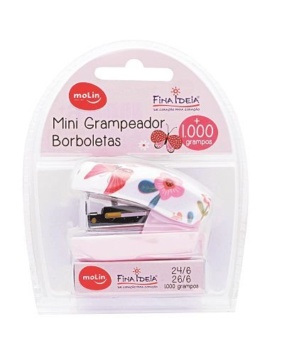 Mini Grampeador Borboletas - Molin